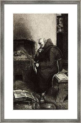 Roger Bacon, English Natural Philosopher Framed Print by Science Photo Library