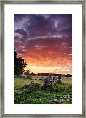 Rollright Stones Sunrise Framed Print by Tim Gainey