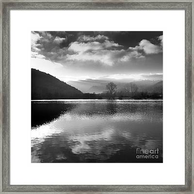 Romantic Lake Framed Print by Bernard Jaubert