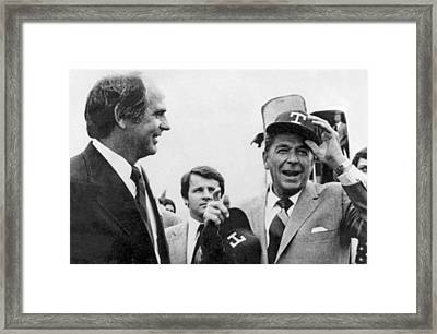 Ronald Reagan Texas Primary Framed Print by Underwood Archives