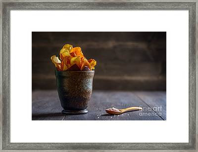 Root Vegetable Crisps Framed Print by Amanda And Christopher Elwell