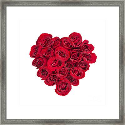 Rose Heart Framed Print by Elena Elisseeva