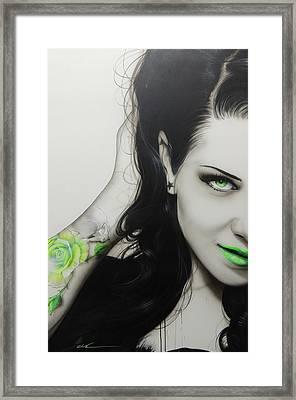 Sugar Skull - ' Rose Of Envy ' Framed Print by Christian Chapman Art