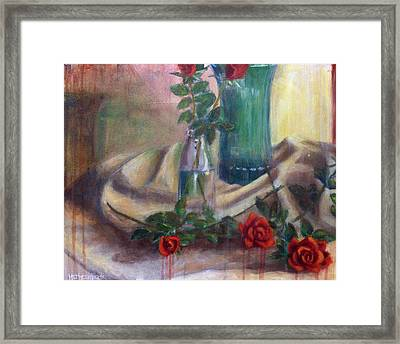 Roses Of Laughter Framed Print by Josh Hertzenberg