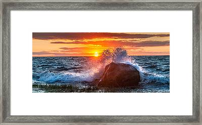 Rough Sea Framed Print by Bill Wakeley