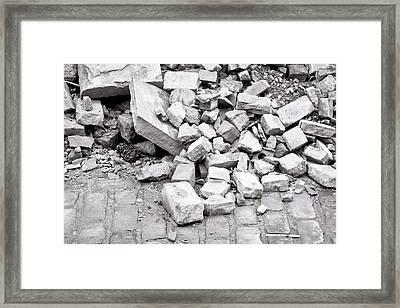 Rubble Framed Print by Tom Gowanlock