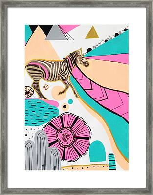 Running High Framed Print by Susan Claire