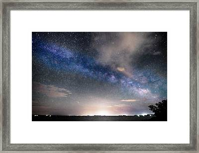 Rural Evening Sky Bwsc Framed Print by James BO  Insogna