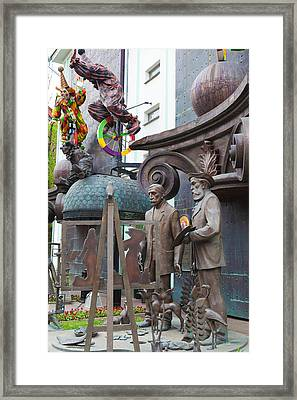 Russian Super-artist Sculptures, Zurab Framed Print by Panoramic Images