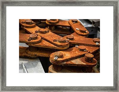 Rusty Links Framed Print by Karol Livote