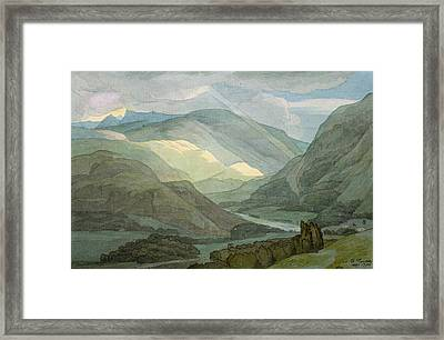 Rydal Water Framed Print by Francis Towne