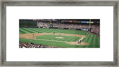 Safeco Field Seattle Wa Framed Print by Panoramic Images