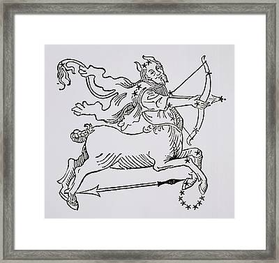 Sagittarius An Illustration Framed Print by Italian School