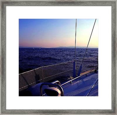 Sailboat Framed Print by Ernesto Cinquepalmi