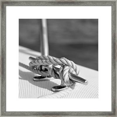 Sailor's Knot Square Framed Print by Laura Fasulo