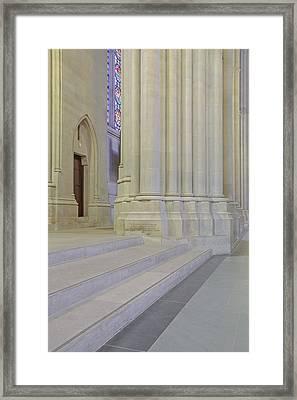 Saint John The Divine Cathedral Columns Framed Print by Susan Candelario