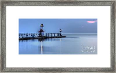Saint Joseph Michigan Lighthouse Framed Print by Twenty Two North Photography