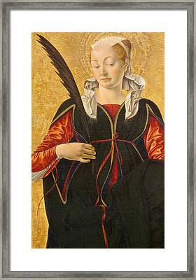 Saint Lucy Framed Print by Francesco del Cossa