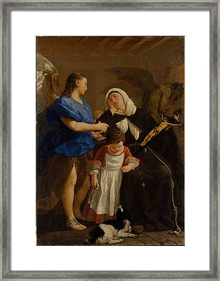 Saint Margaret Of Cortona Framed Print by Celestial Images