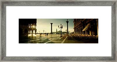 Saint Mark Square, Venice, Italy Framed Print by Panoramic Images