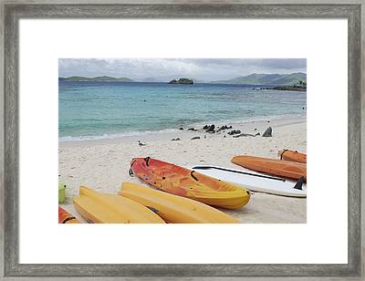 Saint Thomas Beaches Framed Print by Willie Harper