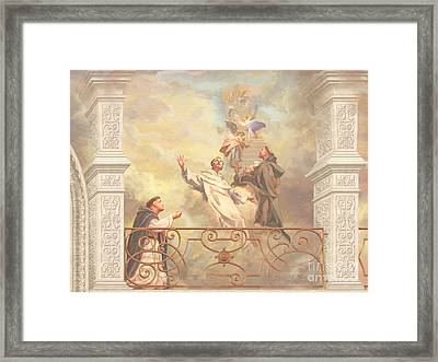 Saints Dominic Benedict And Francis Of Assisi 2 Framed Print by John Alan  Warford
