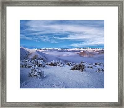 Salmon River Mountains Framed Print by Leland D Howard