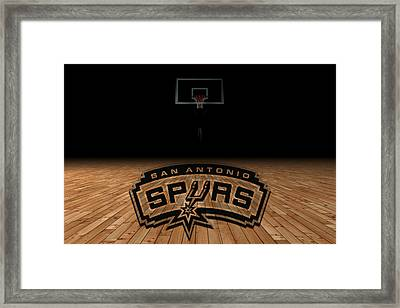 San Antonio Spurs Framed Print by Joe Hamilton