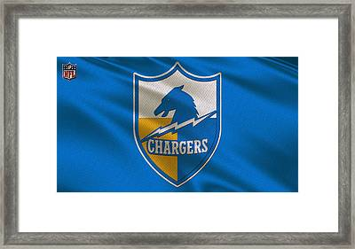 San Diego Chargers Uniform Framed Print by Joe Hamilton