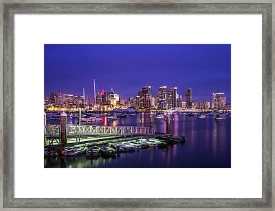 San Diego Harbor Framed Print by Joseph S Giacalone