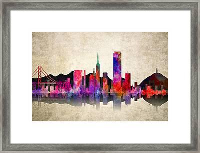 San Francisco Skyline Framed Print by Daniel Hagerman