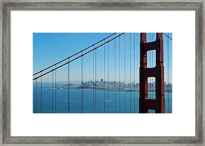 San Francisco Through Golden Gate Bridge Framed Print by Twenty Two North Photography