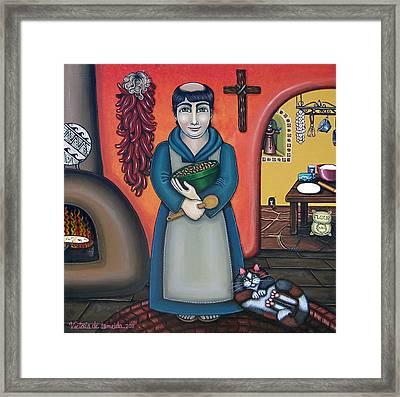 San Pascuals Kitchen Framed Print by Victoria De Almeida