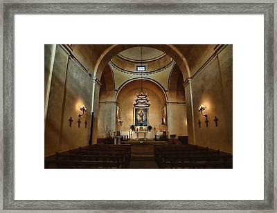 Sanctuary - Mission Concepcion Framed Print by Stephen Stookey