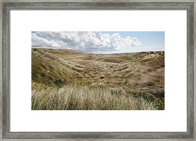 Sand Dunes Framed Print by Annie Haycock