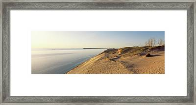 Sand Dunes At The Lakeside, Sleeping Framed Print by Panoramic Images