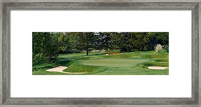 Sand Traps On A Golf Course, Baltimore Framed Print by Panoramic Images