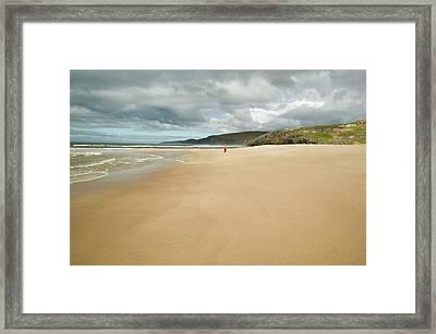 Sandwood Bay In Sutherland Framed Print by Ashley Cooper