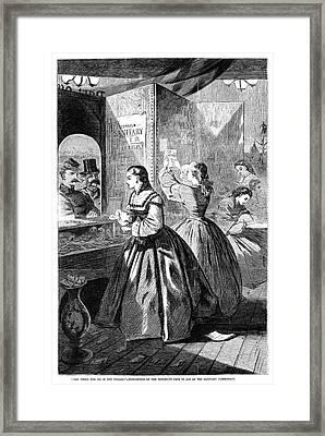 Sanitary Commission, 1864 Framed Print by Granger