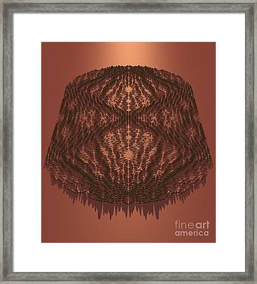 Scarred Quantum Wave Framed Print by Eric Heller