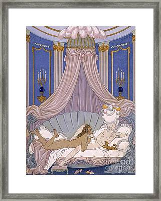 Scene From 'les Liaisons Dangereuses' Framed Print by Georges Barbier