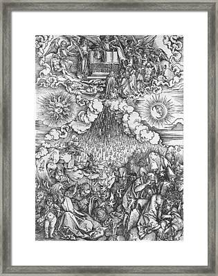 Scene From The Apocalypse Framed Print by Albrecht Durer or Duerer