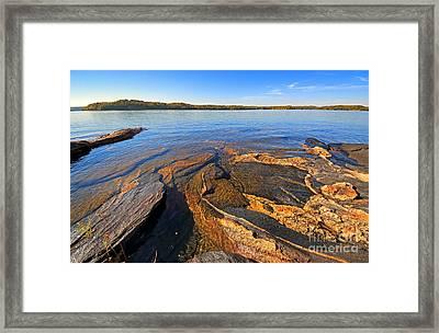 Scenic Rock Beach Framed Print by Charline Xia