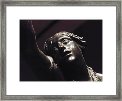 Sculpture In Detroit Framed Print by Dotti Hannum