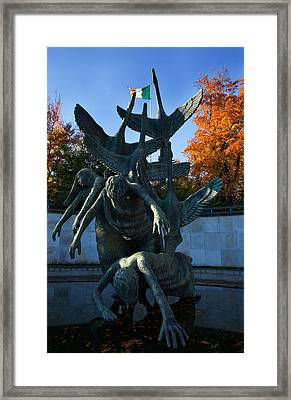 Sculpture Of The Children Of Lir Framed Print by Panoramic Images