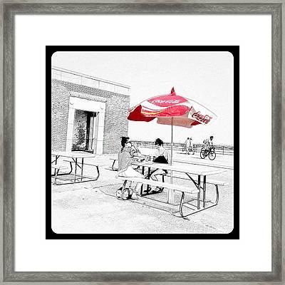 Seaside Sketch Framed Print by Natasha Marco