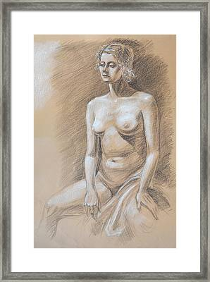 Seated Model Drawing  Framed Print by Irina Sztukowski