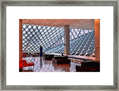 Seattle Library Reading Room 2 Framed Print by Allen Beatty