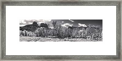 Sedona Arizona Cathedral Rock Panorama Framed Print by Gregory Dyer