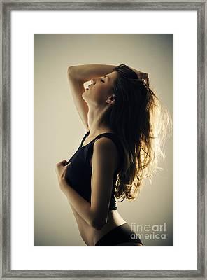 Seductive Woman Framed Print by Jelena Jovanovic